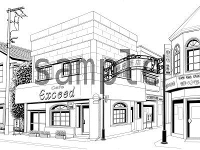 [ケムケム工房] の【マンガのための背景素材「SET&BLOCK」街並み2】