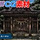 著作権フリー背景CG素材「山奥の神社」