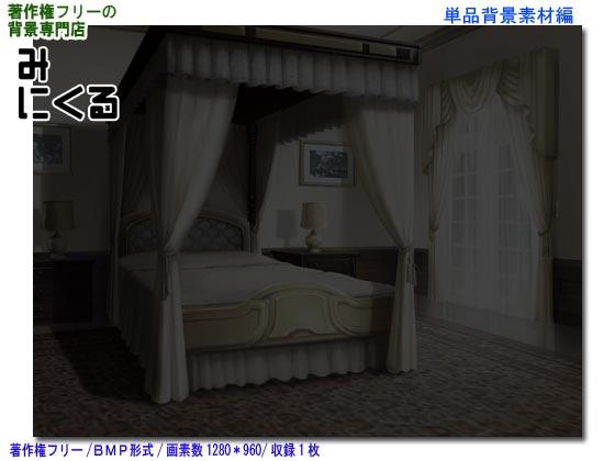 [背景専門店みにくる] の【背景CG素材―お屋敷04-夜消灯】