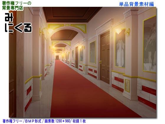 [背景専門店みにくる] の【背景CG素材―お屋敷05ー夜点灯】