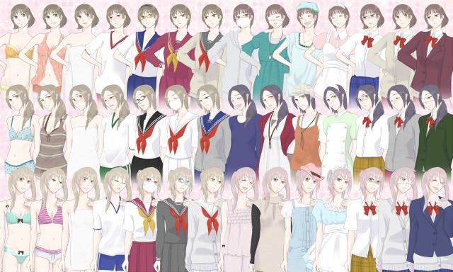 [華餅] の【女の子6人立ち絵素材 】