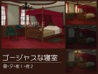 [わたちゃん本舗] の【ゴージャスな寝室【背景素材・単品販売】】