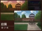 [わたちゃん本舗] の【お屋敷の庭園【背景素材・単品販売】】