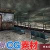 [キュキュキュのQのQ] の【著作権フリー背景CG素材「廃墟の屋上」】