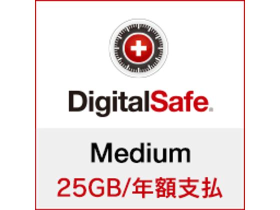 DigitalSafe(デジタルセーフ):Medium (新規/更新 )25GB/年額支払の紹介画像