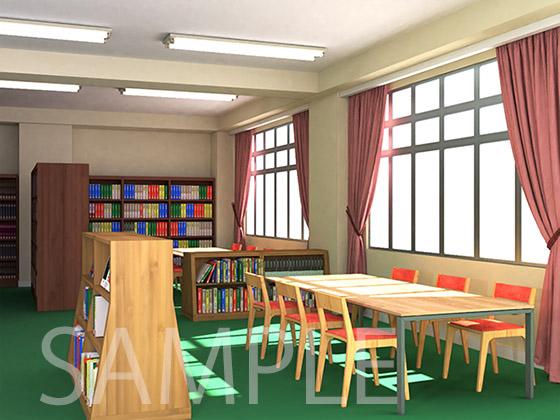 [2D背景]図書室の紹介画像