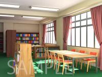 [2D背景]図書室