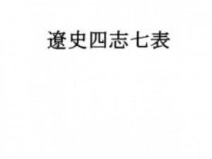 遼史四志七表