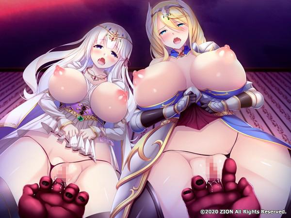 淫獄の姫騎士姉妹 オークの家畜苗床のサンプル画像11