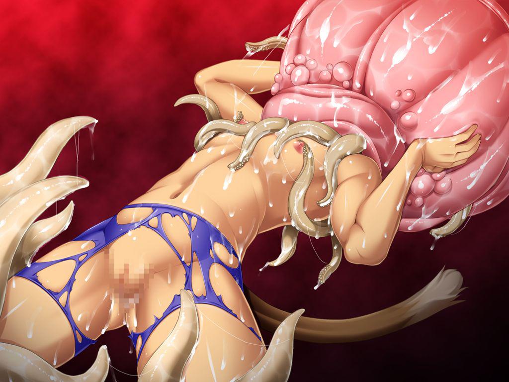 【7割引】新ヌケるっ! 粘液肉壁に飲み込まれて…… 囚われもがきながら快楽に堕ちてしまう凛々しくも美しい獲物たち!のサンプル画像4