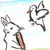 文鳥とウサギの貿易と関税の話し合い。-A paddybird