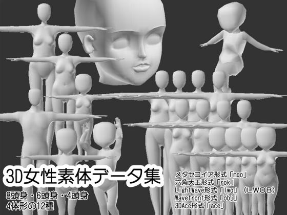 3D女性素体データ集の紹介画像