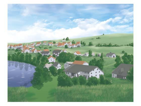 ヨーロッパの田舎風背景 20131123ba4C00003の紹介画像